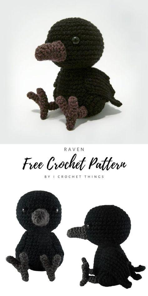 Halloween Crochet Patterns, Crochet Animal Patterns, Stuffed Animal Patterns, Crochet Patterns Amigurumi, Crochet Animals, Crochet Dolls, Knitting Patterns, Doll Patterns Free, Kawaii Crochet
