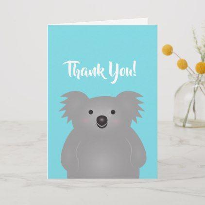 Cute Adorable Australian Koala Bear Thank You Card Zazzle Com Koala Bear Cute Koala Bear Thank You Cards