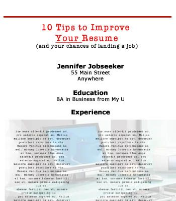 Tips to Improve Your Resume Career, Job search and Stuffing - how to improve your resume