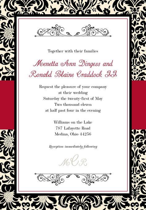Wedding Invitation Animated Templates Black Wedding