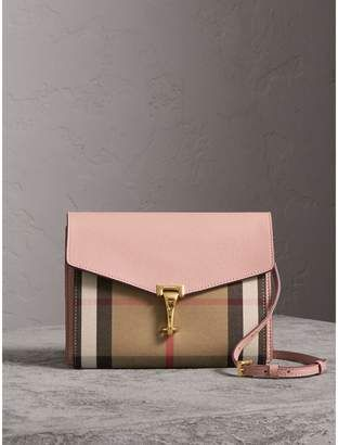 09298cfccbd4 Burberry Small Leather and House Check Crossbody Bag