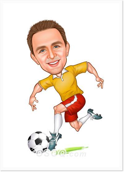 Soccer Player Clip Art Drawing Cartoon Characters Caricature Cartoon Drawings