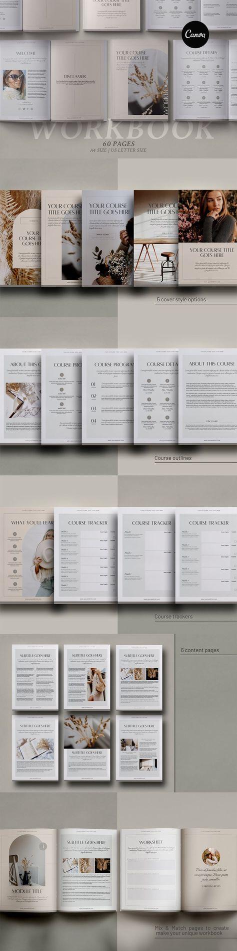 ECourse Workbook Creator Canva