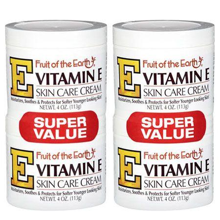 4 Pack Fruit Of The Earth Vitamin E Skin Care Cream Super Value 4 Oz 2 Pack Walmart Com In 2020 Skin Care Cream Moisturizer For Dry Skin Extra Dry Skin