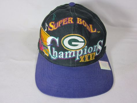 Green Bay Packers Super Bowl 31 Championship Logo Athletic Snapback Hat VTG   LogoAthletic  GreenBayPackers 9b68570bb