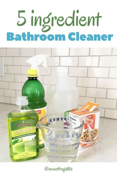 How To Make Easy 5 Ingredient Bathroom Cleaner Homemade Bathroom Cleaner Bathroom Cleaner Cleaning Hacks