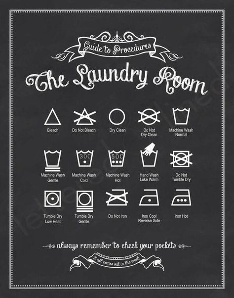 Printable: Know your laundry signs - LOVE THIS! Print off and frame for utility room.