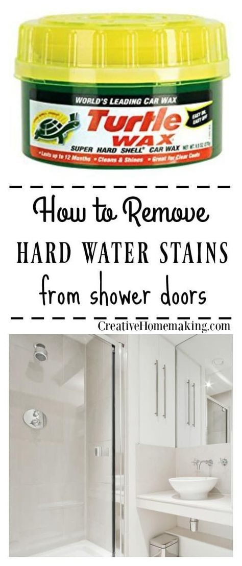 Removing Hard Water Stains And Deposits On Gl