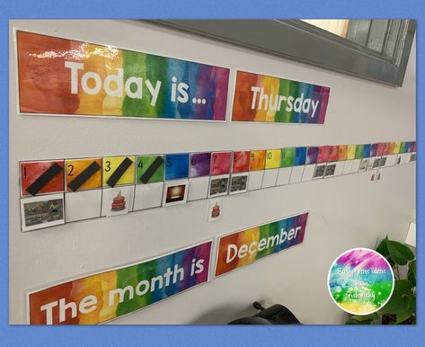 My linear calendar using printables from @youclevermonkey