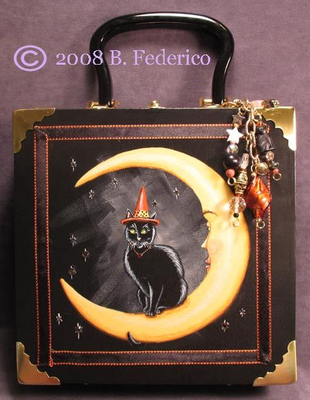 Federico Fantasy Art - Original Hand Painted Cigar Box Purses by Becky Federico