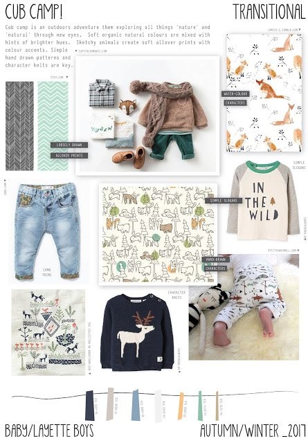 Emily Kiddy: Cub Camp - Autumn/Winter 2016/17 - Baby/Layette Boys Trend