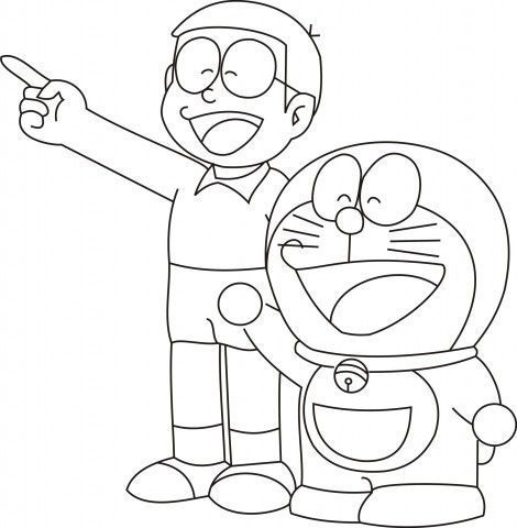 Doraemon Coloring Pages And Nobita Coloringpagesforkids