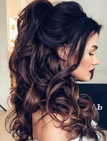 Einfache Und Schone Frisuren Fur Firmenfeiern Tun Es Selbst Kurz Haar Frisuren Frisur Lange Haare Locken Brautjungfern Frisuren Lockige Hochzeitsfrisuren