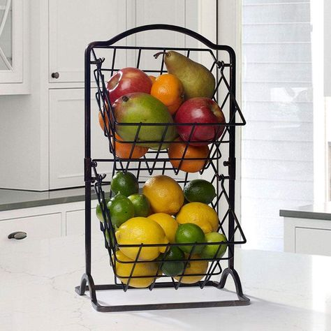 2 Tier Hanging Storage Baskets