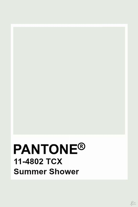 Pantone Summer Shower