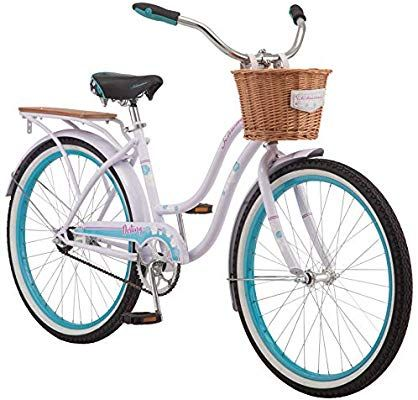Amazon Com Schwinn Destiny Womens Beach Cruiser Bike Single Speed 24 Inch Wheels Purple Sports Outdo In 2020 Beach Cruiser Bikes Cruiser Bike Beach Cruiser Bike