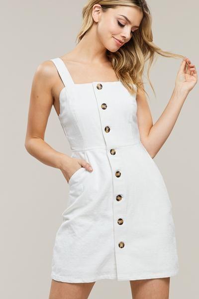 34+ Button up front dress info