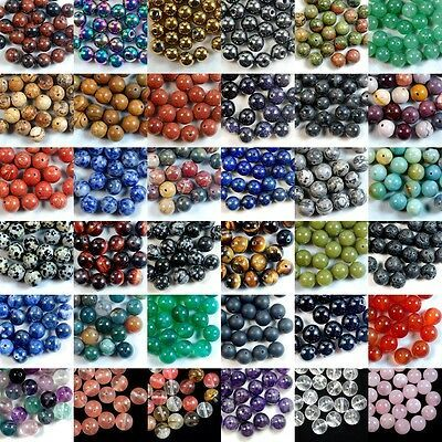 Wholesale Lot Natural Gemstone Round Spacer Loose Beads 4mm 6mm 8mm 10mm 12mm Loose Beads Natural Beads Beads For Sale