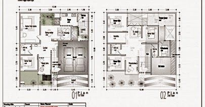 minimalis 9x10 sketsa rumah ukuran 9x10