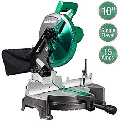 Metabo Hpt Compound Miter Saw 10 Inch Single Bevel 15 Amp Motor 0 52 Miter Angle Range 0 45 Bevel Ran In 2020 Miter Saw Compound Mitre Saw Table Saw Accessories