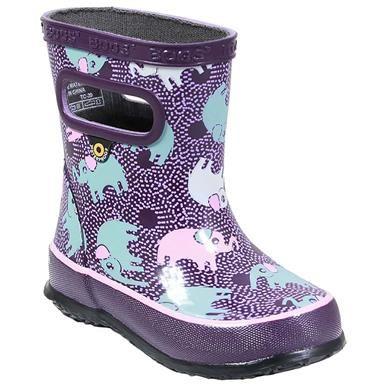 *Cat /& Jack Girls/' Polly Neoprene Waterproof Llama Print Pull On Boots Blue