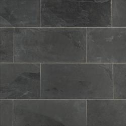 Janeiro Slate Tiles Montauk Black Slate Sawn Natural 12x24