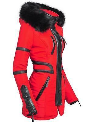 Navahoo Moon Damen Designer Winter Jacke warmer Mantel lang Parka gefüttert YM99