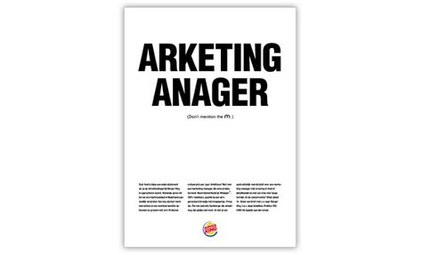 The Creative Ad World Burger King Don T Mention M Recruitment Ads Copywriting Ads Recruitment