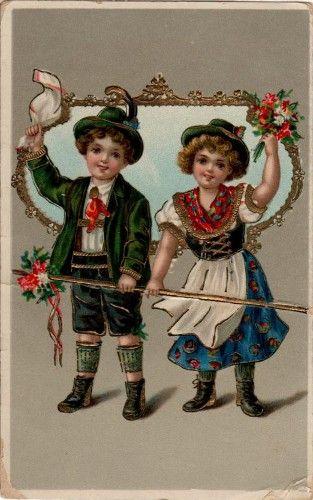 Nostalgische Postkarten Auswahlen Geburtstags Grusskarte