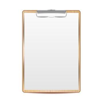 الحافظة واقعية مع ناقلات الورق يسخرون لتصميم حجم A4 الخاص بك معزولة على خلفية بيضاء التوضيح قصاصات فنية المتجه الحافظة Png والمتجهات للتحميل مجانا Design Your Design White Background