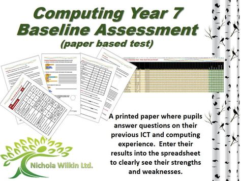 COMPUTING Year 7 Baseline Assessment (paper based test) | Secondary