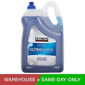 Kirkland Signature Ultra Shine Liquid Dish Soap Cleaning