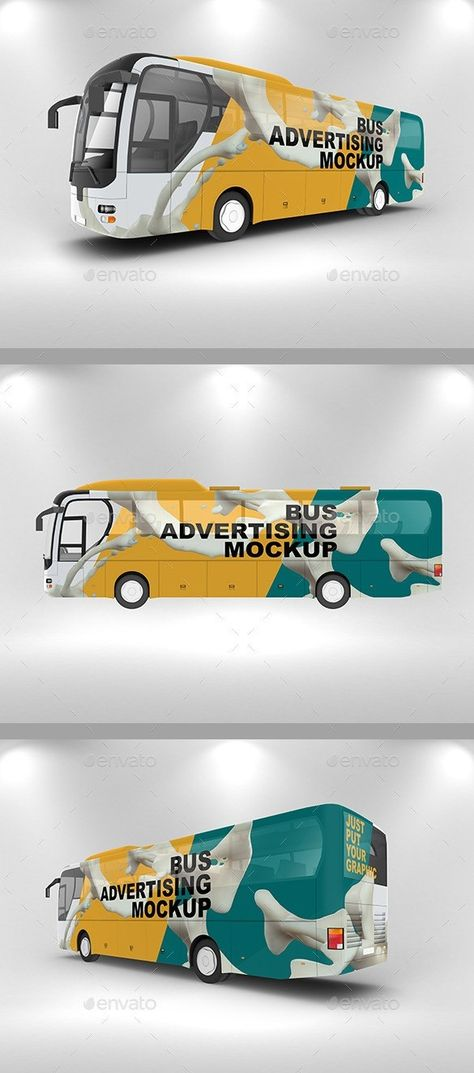 25+ Best Bus Mockup PSD For Bus Advertising