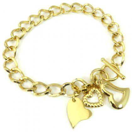 6029eb460c8 Ocelový náramek srdce pozlacený - Aurenis šperky