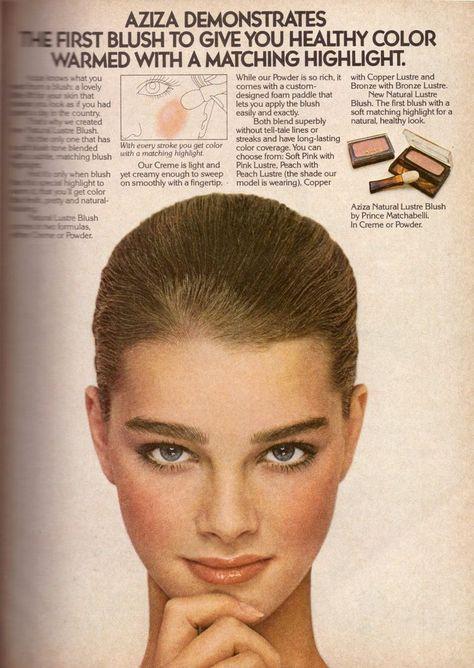 1979 Aziza Brooke Shields Cosmetics Retro Print Advertisement Ad Vintage VTG 70s   eBay