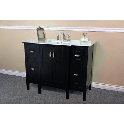 Bellaterra Home 45 Single Bathroom Vanity Set Black Vanity Bathroom Bathroom Vanity Bathroom Vanity Base 45 single sink bathroom vanity