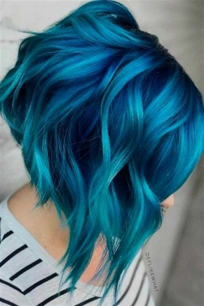 30 Hot Dyed Hair Ideas Cuded Hair Styles Blue Ombre Hair Dyed Hair