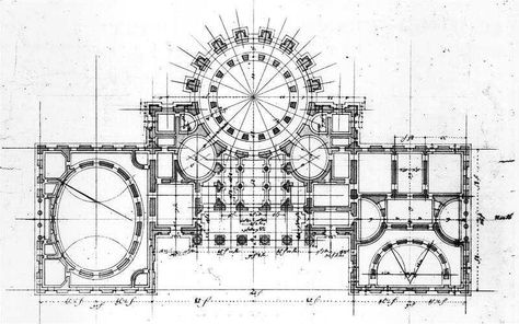 Stephen Hallet's Floor Plan Which Was Used to Build the Capitol Building