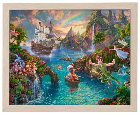 Peter Pan's Never Land - Standard Art Prints - 11 x 14 / Natural Wood Art Print