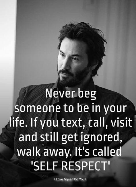 Self Respect.......