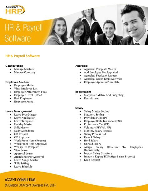 Accent Consulting HR \ Payroll Software u201cAccent HRPu201d Attendance - application for leave