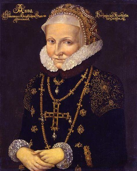 Kurfürstin Anna von Sachsen 1585 | Portrait, Danemark, Saxe