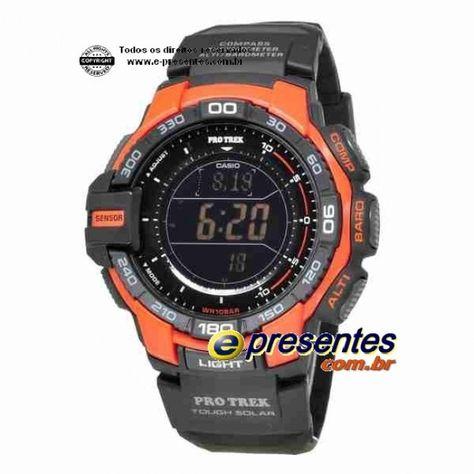 296239f3540 CASIO PROTREK PRG-270-4DR Altimetro Barômetro Termometro Bussola ...