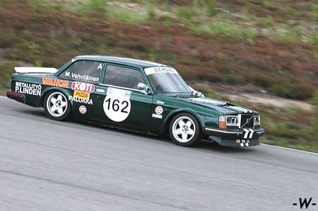 Rare Volvo Race Car Competing In Historic Races In Finland