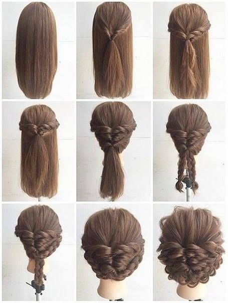 Fashionable Braid Hairstyle For Shoulder Length Hair Www Easy Braids For Medium Length Hair Easy B Long Hair Styles Medium Length Hair Styles Thick Hair Styles