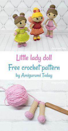 30 Amigurumi Crochet Doll Toys Free Patterns | Crochet dolls free ... | 452x236