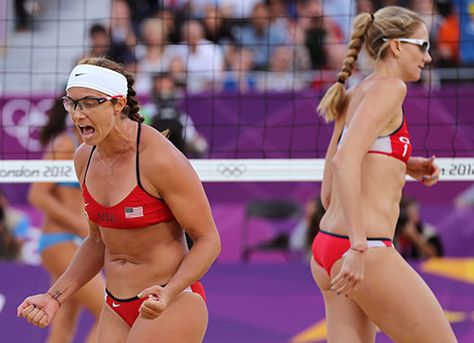 Misty May-Treanor and Kerri Walsh Jennings. Not just since the Olympics either!love sand vball!!