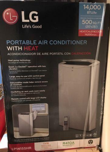 Lg Lp1415shr 14000 Btu Portable Air Conditioner Cooling And Heating With Portable Air Conditioner Air Conditioner Cool Rooms