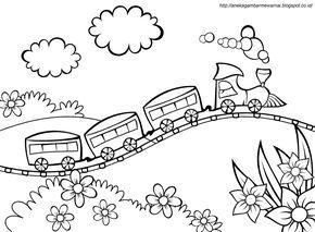 Gambar Mewarnai Kereta Api Untuk Anak Paud Dan Tk Aneka Gambar