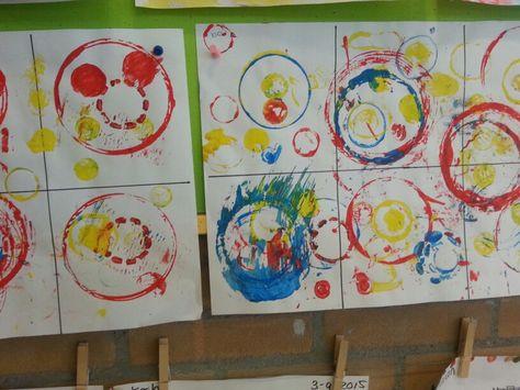 Hedendaags Stempelen met ronde vormen.   Thema, Kunst, Vormen JE-76